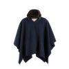 Poncho - Merino wool - Blue color