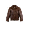 RAF Jacket - Glossy leather - Brown color