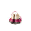 Cruising Bag - Cotton gabardine and leather - Pink and grey colors
