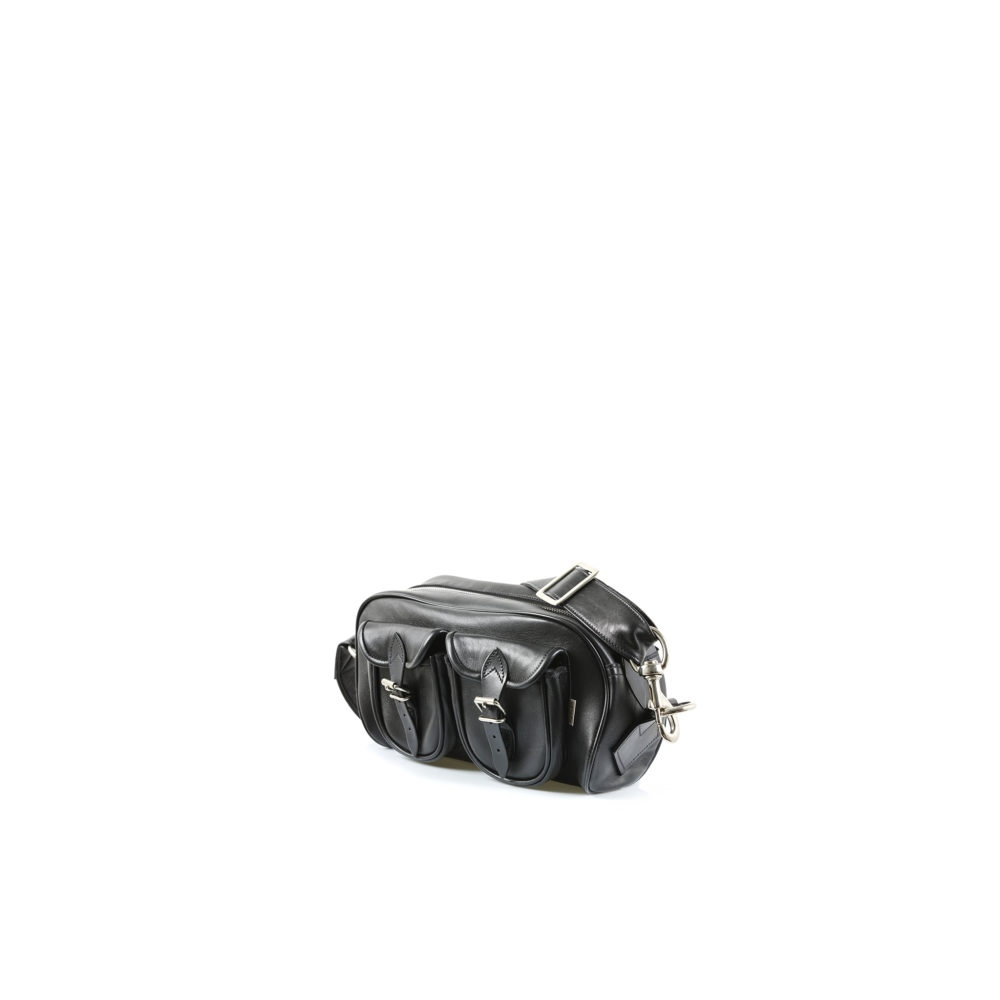 Travel Bag Mini - Glossy leather - Black color