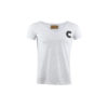 T-shirt C - Cotton jersey and wool - White and grey colors