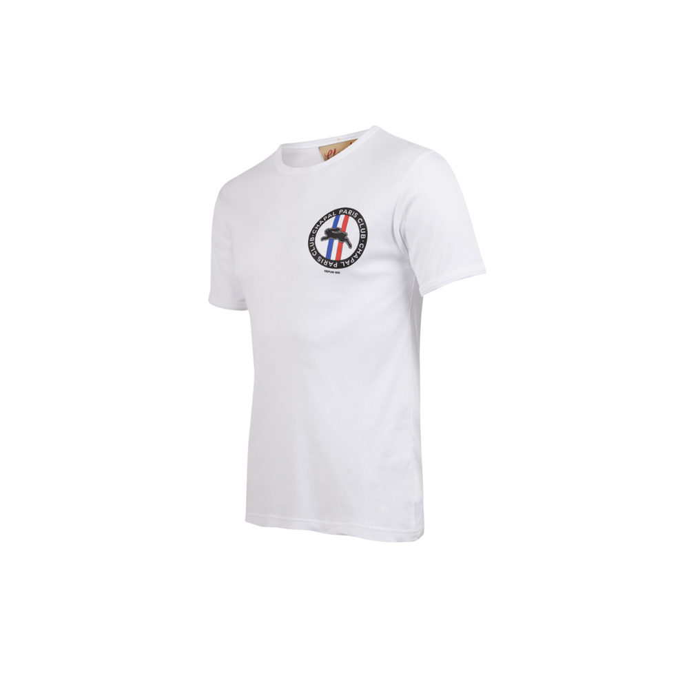 T-shirt Paris Club - Jersey de coton - Couleur blanc