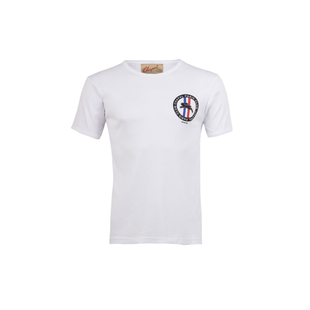 T-shirt Paris Club - Cotton jersey - White color