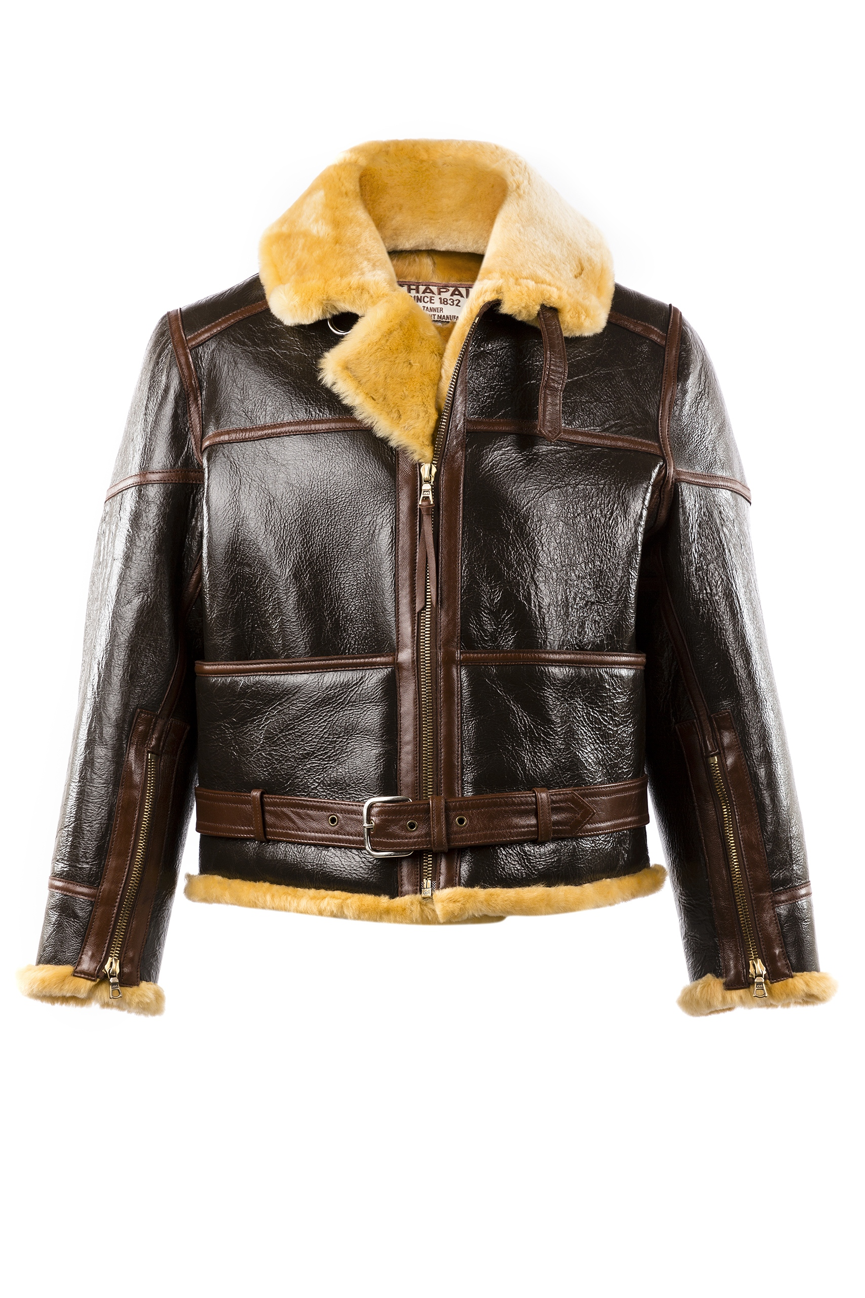 RAF Jacket - Varnished shearling - Gold color
