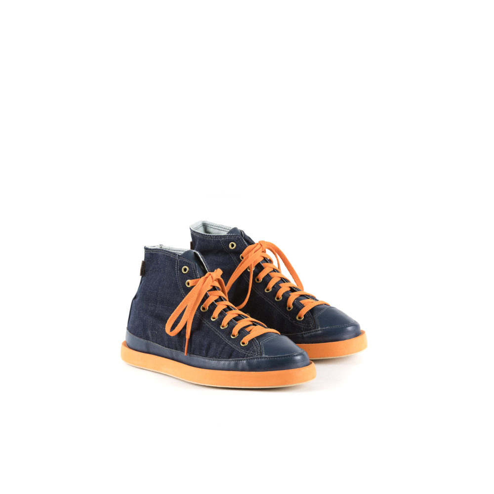 2021 Sneakers - Denim canvas and glossy leather