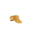 Casquette Chauffeur - Cuir glacé - Couleur jaune