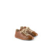 Low Sneakers - Glossy leather - Tan color