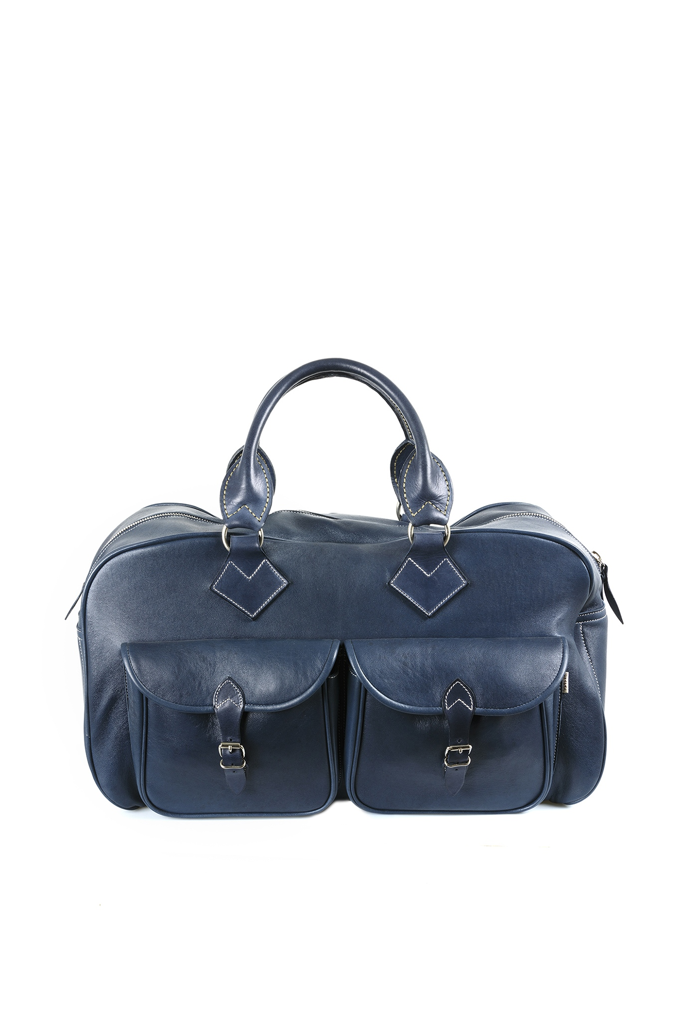 Home page - Travel Bag - Glossy leather - Blue color