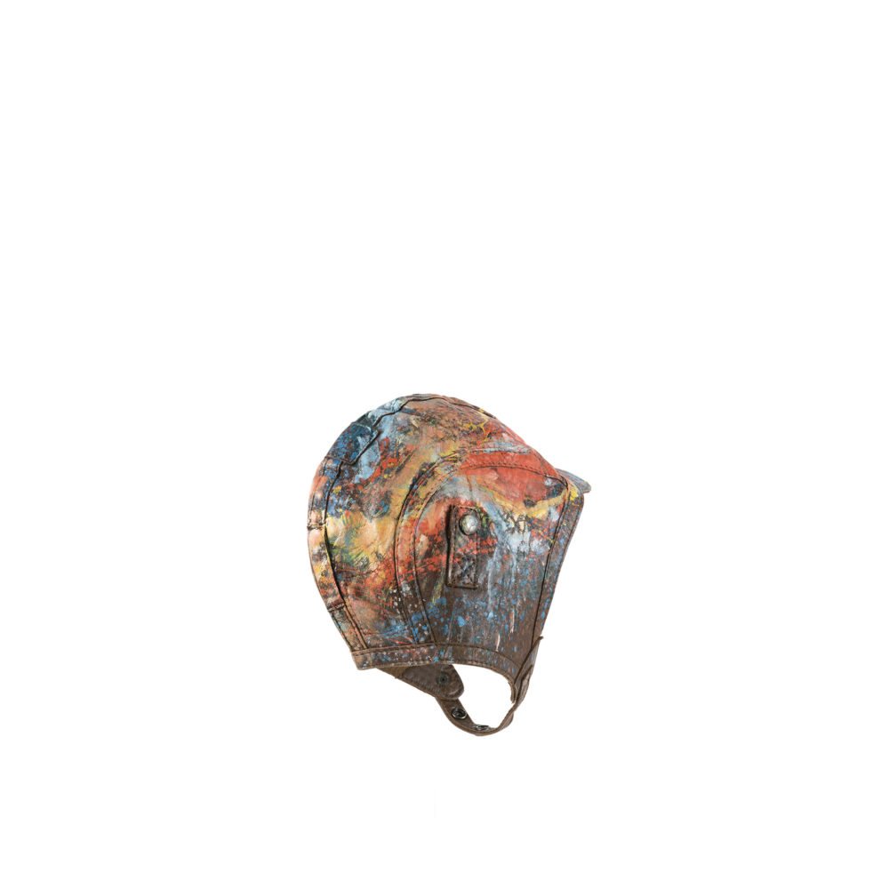 US Art Helmet - Painted - Glossy leather - Brown color