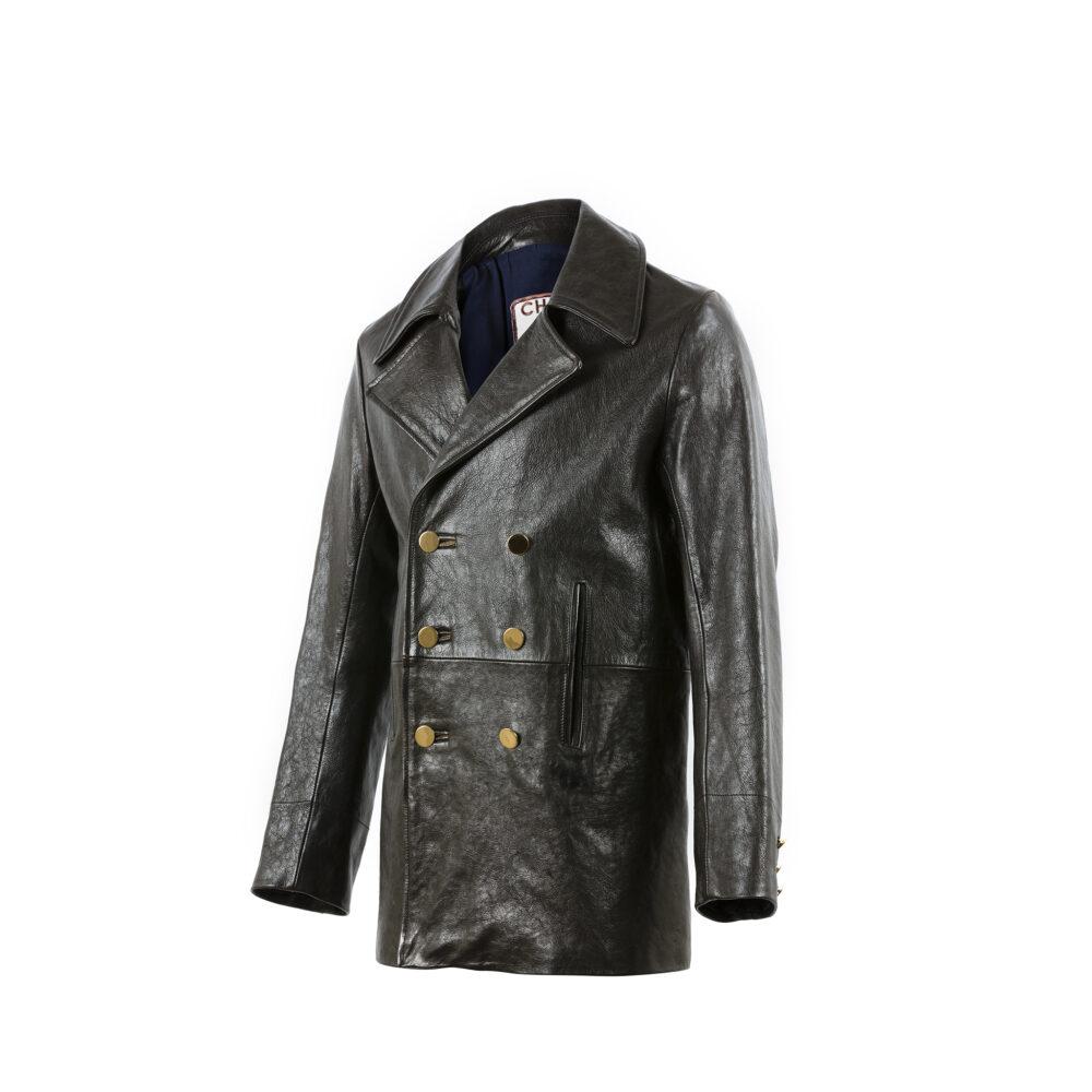 Sailor Coat - Vegetable leather - Black color