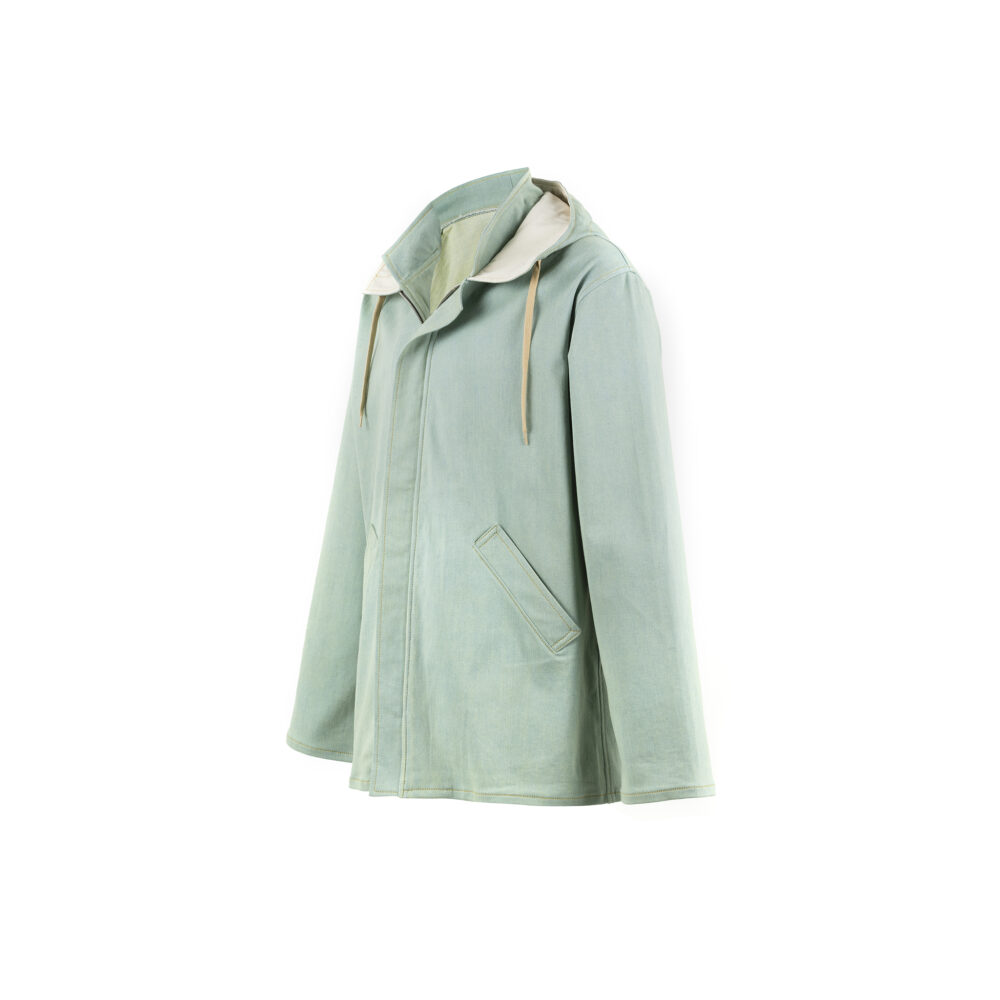 Raincoat - Dyed denim canvas
