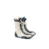 Mosaic Pilot 60's Boots - Glossy leather - White and blue colors