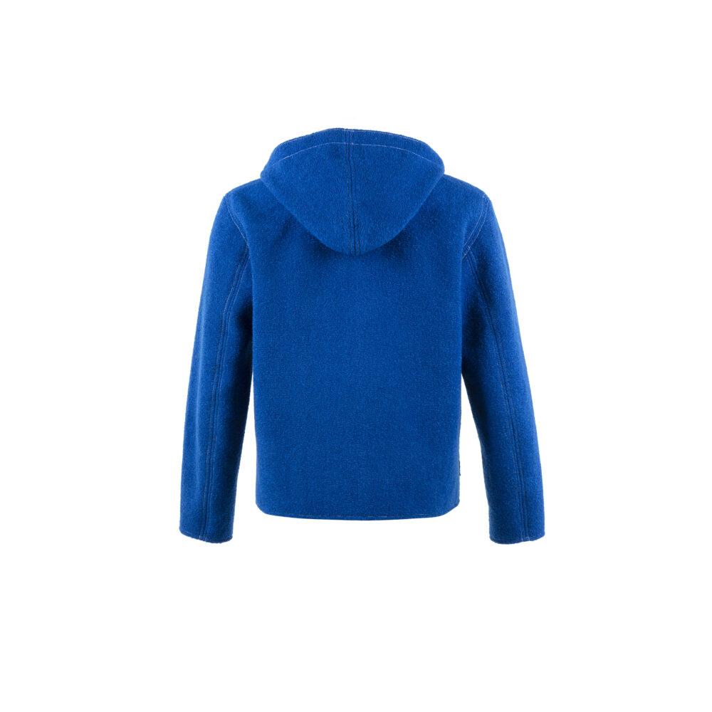 Cardigan Sport - Merino wool - Electric blue color