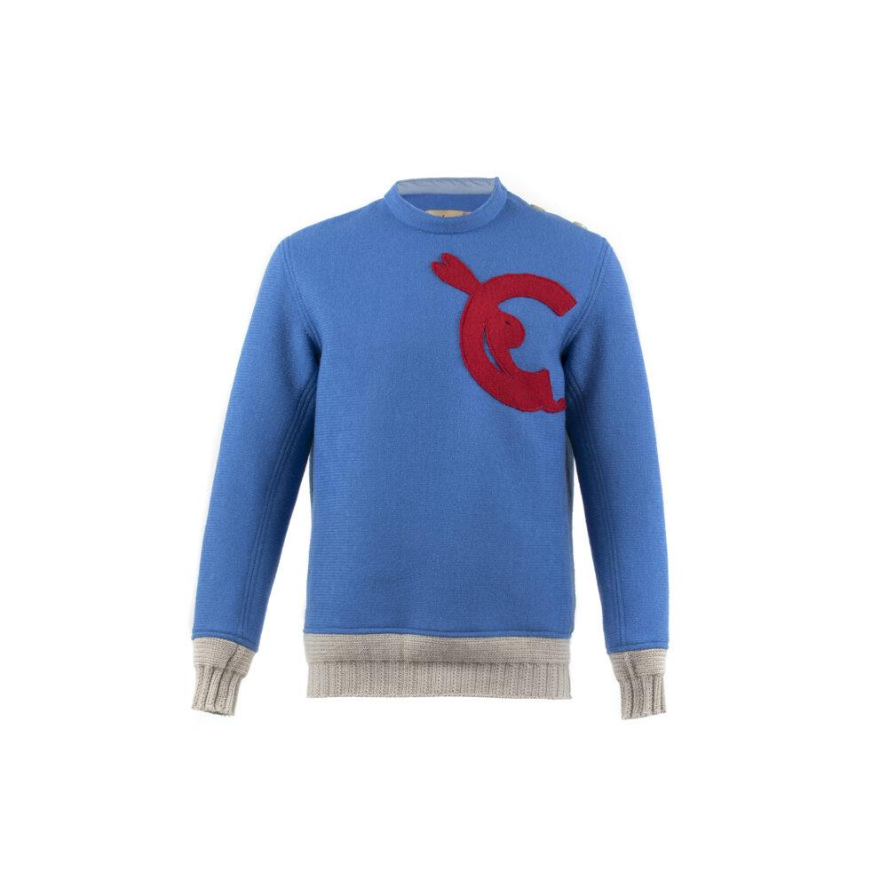 Clair de Lune Jumper - Merino wool - Electric blue color