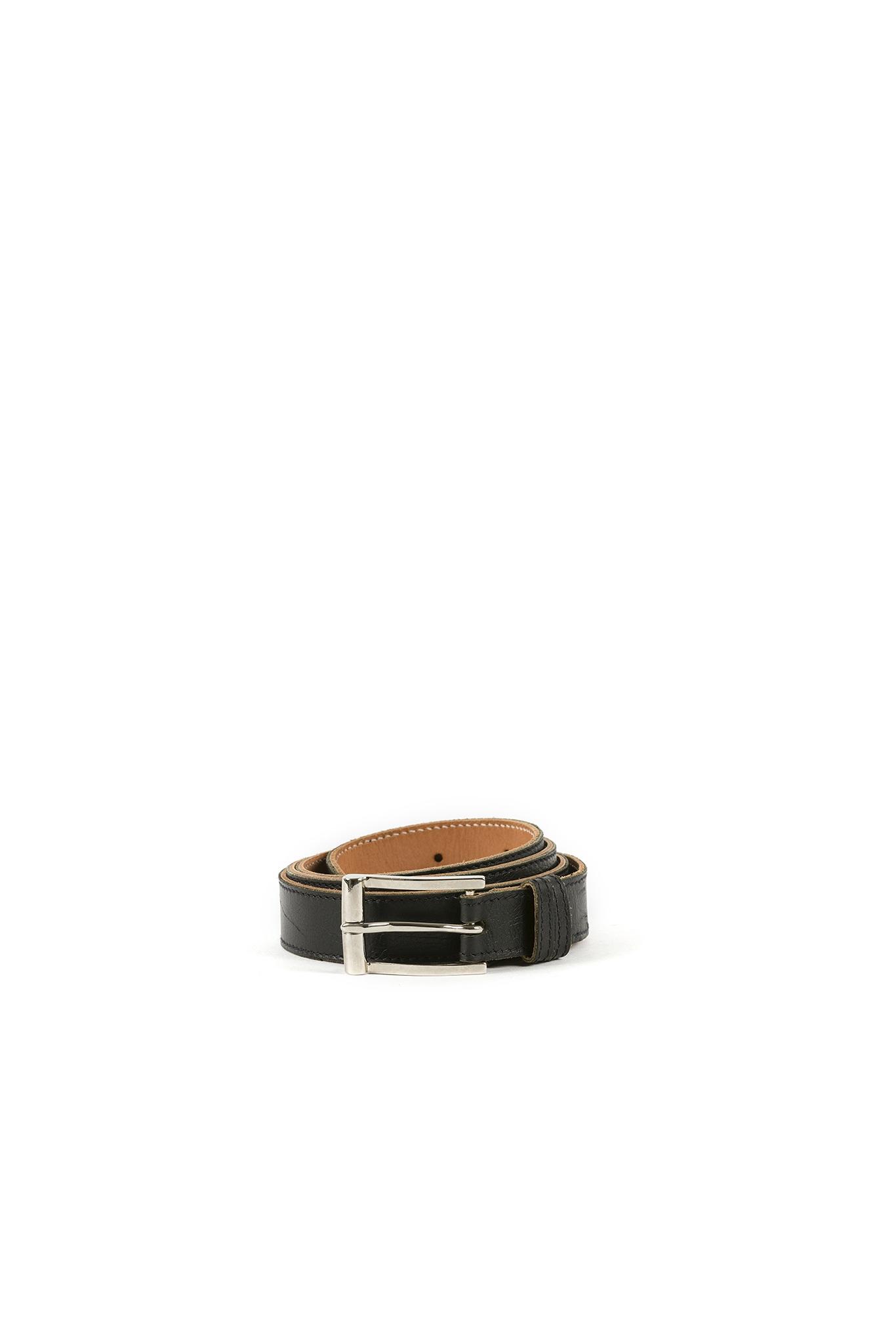 Pilot Belt - Glossy leather - Black color