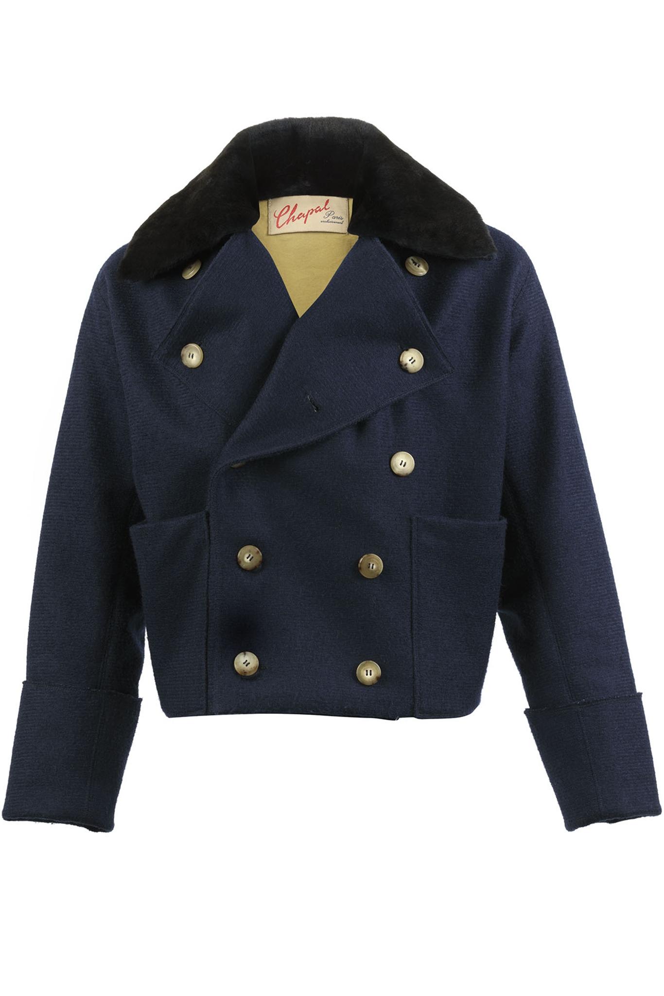 1814 Empire Vest - Merino wool - Blue color